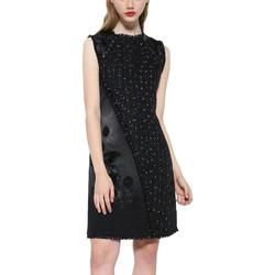 Vêtements Femme Robes courtes Desigual Robe Achille Black Denim 17WWVD05 Bleu