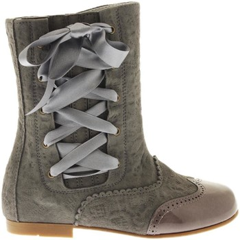 Chaussures Fille Bottines Guxs Bota  Harlem Viseu Lazo Lateral Gris Gris