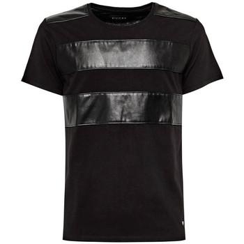 Vêtements Homme T-shirts manches courtes Guess T-Shirt Homme Adam M73P03 Noir Noir