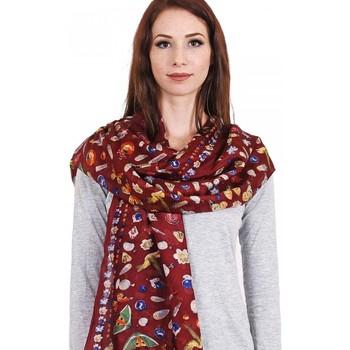 Accessoires textile Femme Echarpes / Etoles / Foulards Allée Du Foulard Etole soie Mezcla rouge