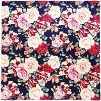 Accessoires textile Femme Echarpes / Etoles / Foulards Allée Du Foulard Carré de soie Premium Rosace Bleu