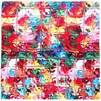 Accessoires textile Femme Echarpes / Etoles / Foulards Allée Du Foulard Carré de soie Premium Prisme multicolore