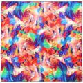 Allée Du Foulard Carré de soie Premium Tourbillons Multicolore - 85x85 cm