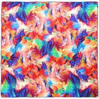 Accessoires textile Femme Echarpes / Etoles / Foulards Allée Du Foulard Carré de soie Premium Tourbillons Multicolore - 85x85 cm multicolore