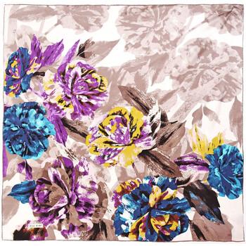 Accessoires textile Femme Echarpes / Etoles / Foulards Allée Du Foulard Carré de soie Premium Maja Grisé - 85x85 cm
