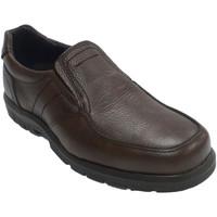Chaussures Homme Mocassins Made In Spain 1940 Chaussure de sol en caoutchouc élastique marrón