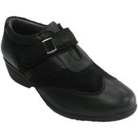 Chaussures Femme Mocassins 48 Horas Chaussure femme avec cuir combiné Velcro negro