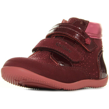 Chaussures Fille Boots Kickers Biliana Nubuck Rose rose