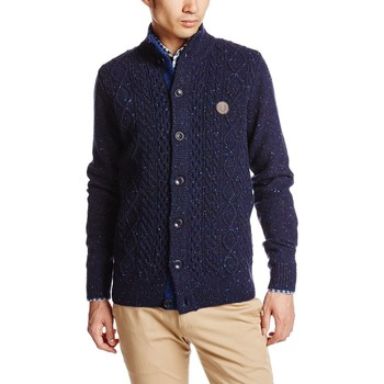Vêtements Homme Pulls Fred Perry K7222 IRISH DONEGAL Bleu Médiéval
