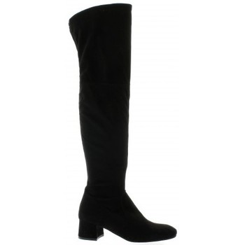 Chaussures Femme Bottes ville Pao Genouilleres cuir velours Noir