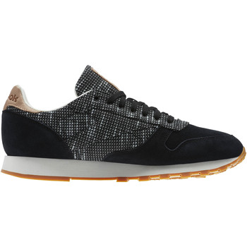 Chaussures Baskets mode Reebok Classic Classic Leather Needlecraft Pack Noir