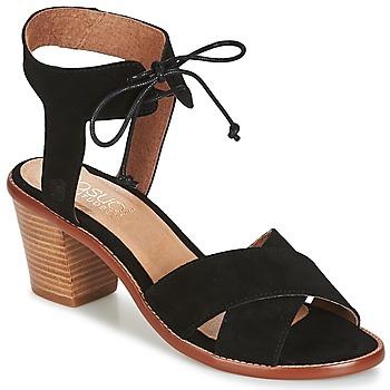 Chaussures Femme Sandales et Nu-pieds Casual Attitude ITALO Noir