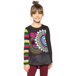 Vêtements Fille T-shirts manches longues Desigual T Shirt Terranova Gris 17WGTK61 Gris