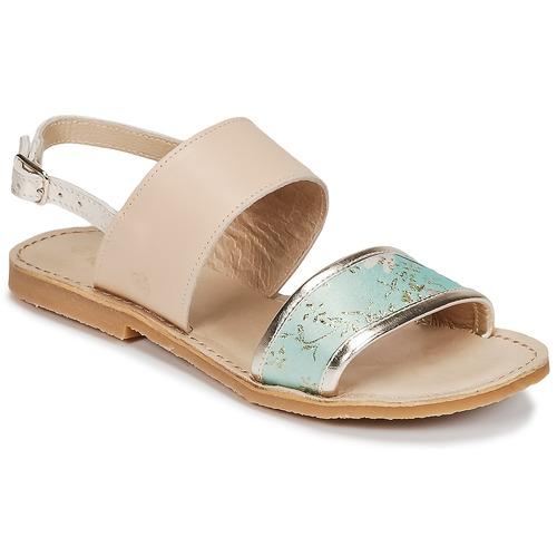 Chaussures Fille Sandales et Nu-pieds Citrouille et Compagnie IOCHARLI Beige / Bleu