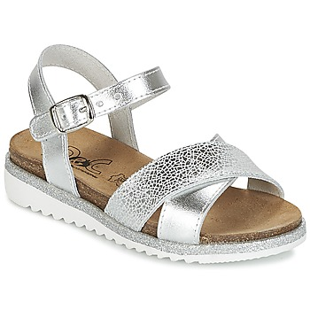 Chaussures Fille Sandales et Nu-pieds Citrouille et Compagnie GAUFRETTE Argent