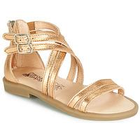 Chaussures Fille Sandales et Nu-pieds Citrouille et Compagnie IMOURAT Doré
