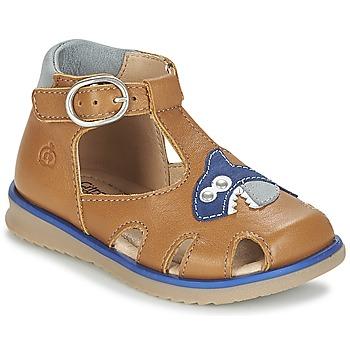 Chaussures Garçon Sandales et Nu-pieds Citrouille et Compagnie ISKILANDRO Marron / Bleu