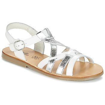Chaussures Fille Sandales et Nu-pieds Citrouille et Compagnie IMONGI Blanc / Argent