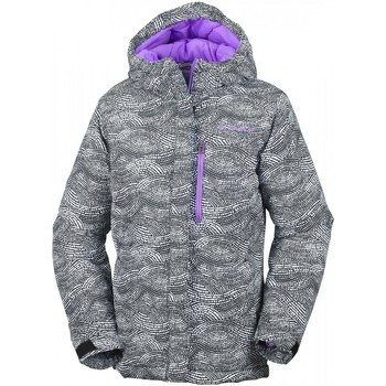 Vêtements Enfant Blousons Columbia Veste De Ski  Alpine Free Fall Black Dotty Mogul Print Gris