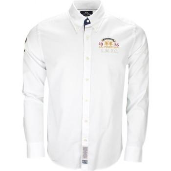 Vêtements Homme Chemises manches longues La Martina Chemise  Royal Company blanche pour homme Blanc