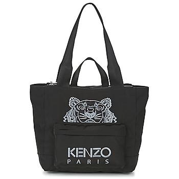 Sacs Femme Cabas / Sacs shopping Kenzo KANVAS TIGER TOTE LARGE Noir
