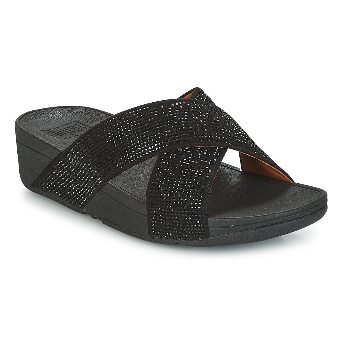 FitFlop CRYSTAL II SLIDE SANDALS Noir - Livraison Gratuite avec  - Chaussures Mules Femme