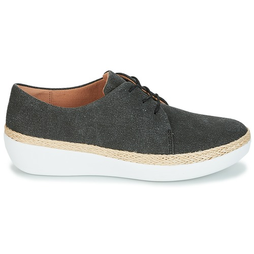 Basses Fitflop Shoes Femme Lace Superderby Up Noir Chaussures Baskets mv0wO8Nn