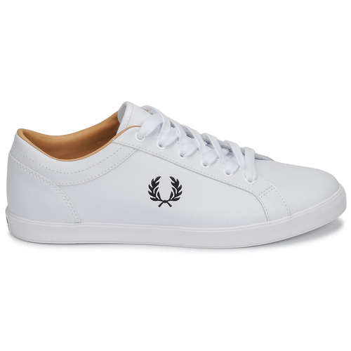 Baseline Fred Basses Leather Blanc Baskets Perry Homme oBexCd