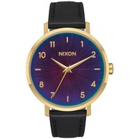 Montres & Bijoux Femme Montre Nixon Montre  Arrow Leather - Gold / Black / Rainbow Noir