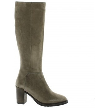 Chaussures Femme Bottes ville Pao Bottes cuir velours Taupe