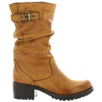 Chaussures Femme Bottes ville Pao Mi-bottes cuir nubuck Cognac