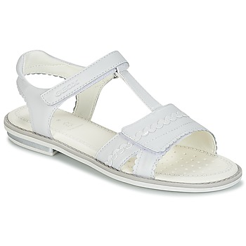 Chaussures Fille Sandales et Nu-pieds Geox J S.GIGLIO A Blanc