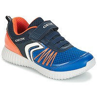 Chaussures Garçon Baskets basses Geox J WAVINESS B.C Marine / Orange