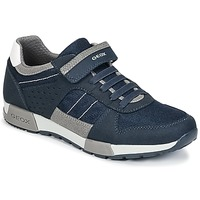 Chaussures Garçon Baskets basses Geox J ALFIER B. A Marine / Gris