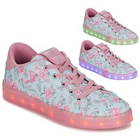 Chaussures Fille Baskets basses Geox J KOMMODOR G. B Bleu / Rose