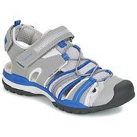 Chaussures Garçon Sandales sport Geox J BOREALIS B. C Gris / Bleu