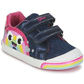 Chaussures Fille Baskets basses Geox B KILWI G. C Jeans / Rose