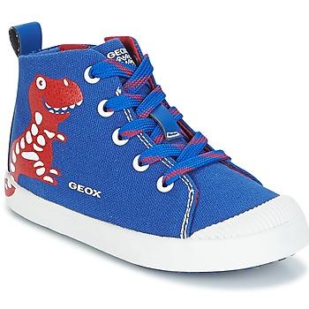 Chaussures Garçon Baskets montantes Geox B KILWI B. F Bleu / Rouge