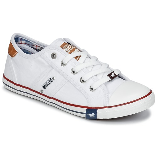 Chaussures Femme Baskets basses Mustang RUGARL Blanc