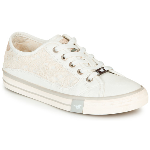 Mustang ROULIA Blanc - Chaussures Baskets basses Femme
