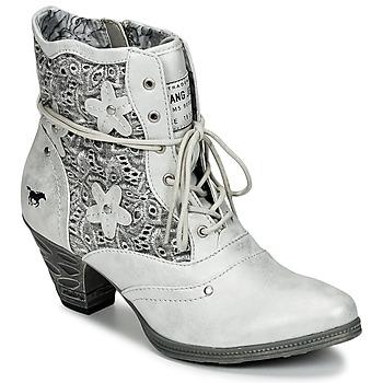 Chaussures Femme Bottines Mustang JIPIRI Argenté