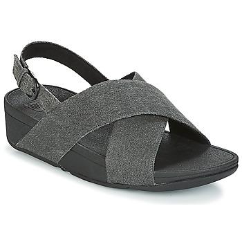Chaussures Femme Sandales et Nu-pieds FitFlop LULU CROSS BACK-STRAP SANDALS NOIR