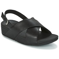 Chaussures Femme Baskets basses FitFlop LULU CROSS BACK-STRAP SANDALS Black