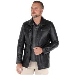 Vêtements Homme Vestes / Blazers Pallas Cuir Blouson  Sélection en cuir ref_happy41994-noir Noir