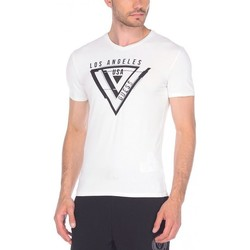 Vêtements Homme T-shirts manches courtes Guess T-Shirt Homme Usually Blanc Blanc