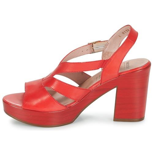 Wonders Joperjo Et pieds Femme Nu Rouge Sandales J35KFTl1uc