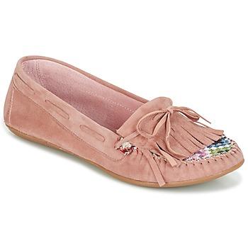 finest selection 82a25 d0c3a Chaussures Femme Mocassins Ippon Vintage MOC-WAX-ROSE Rose
