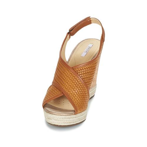 Sandales Et pieds Geox C Janira Nu Femme Marron POZXkiuT