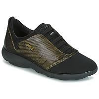 Chaussures Femme Baskets basses Geox D NEBULA C Doré / Noir