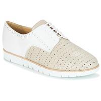 Chaussures Femme Derbies Geox KOOKEAN Taupe / Blanc